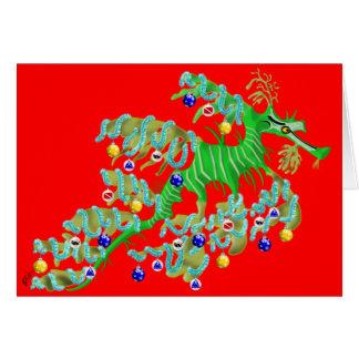 Cartão festivo do dragão do mar