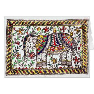 Cartão festivo do elefante