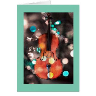 Cartão festivo do feriado do violoncelo
