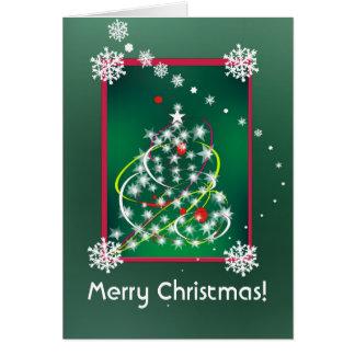 Cartão festivo do Natal da árvore