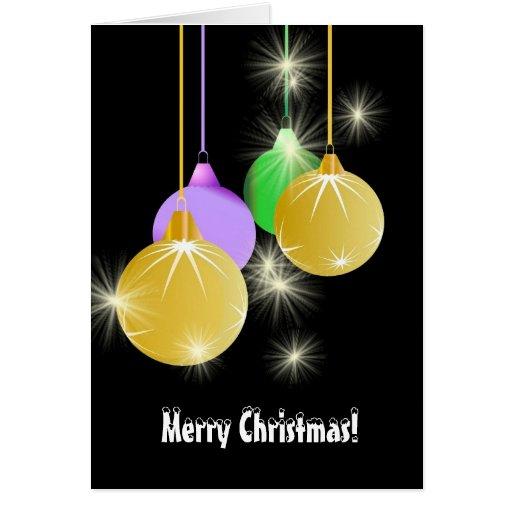Cartão festivo do Natal das decorações