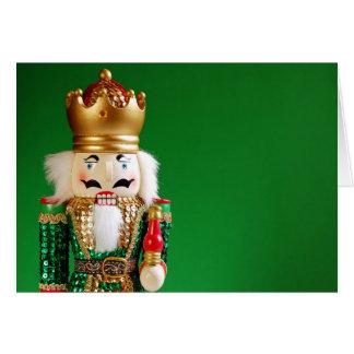 Cartão festivo do nutcracker do Natal