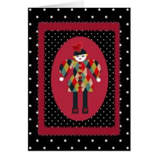 Cartão festivo, extravagante dos namorados de Mart