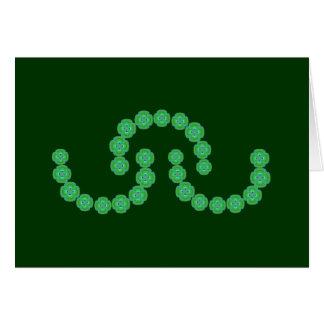 Cartão Festões do verde esmeralda
