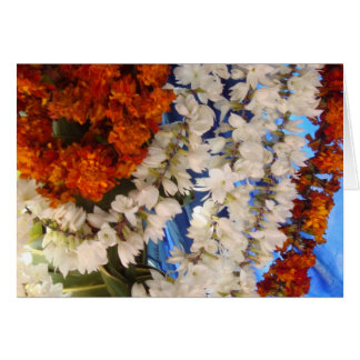 Cartão Festões indianas da flor