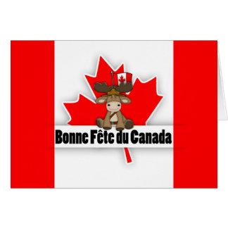Cartão Fete francês cortado moderno de Bonne do canadense