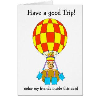 Cartão Filhote de cachorro Ballooning