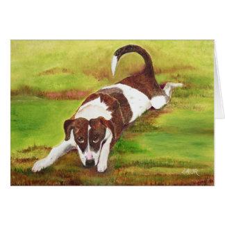 Cartão Filhote de cachorro brincalhão