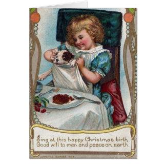 Cartão Filhote de cachorro do Natal