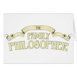 Cartão Filósofo da família