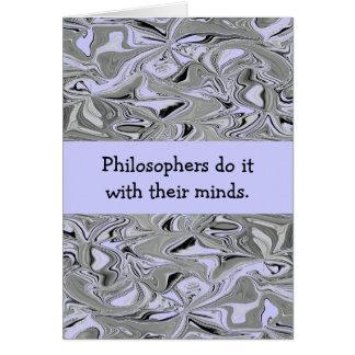 Cartão Filósofos graceja