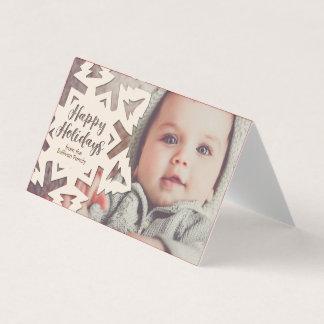 Cartão Floco cortado papel personalizado da neve dos