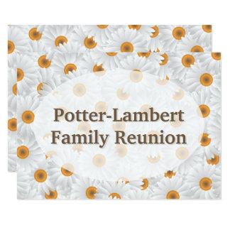Cartão Flor branca da camomila personalizada