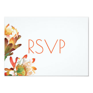 Cartão Flor do cacto do deserto que Wedding RSVP