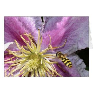 Cartão Flor exótica com abelha