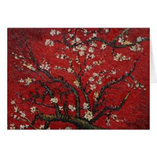 Cartão Flor Vincent van Gogh da amêndoa