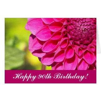 cartão floral da dália do rosa do aniversário do