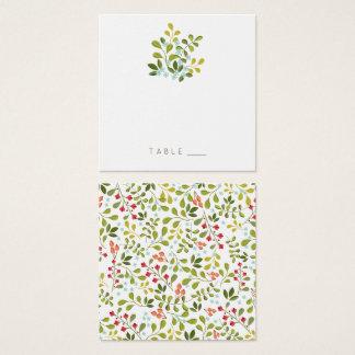 Cartão floral da mesa da série do casamento do