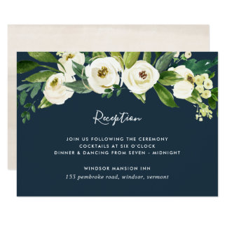 Cartão Cartão floral da recepção do alabastro
