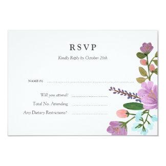 Cartão floral da resposta do casamento de