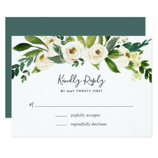 Cartão Cartão floral do alabastro RSVP