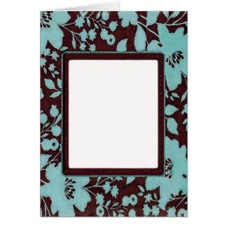 Cartão floral do ~ do quadro da foto