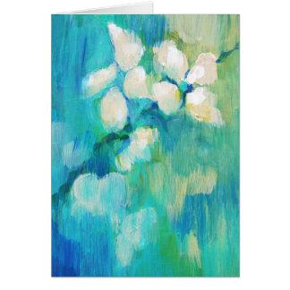 Cartão Flores brancas