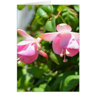 Cartão Flores de suspensão