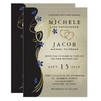 Cartão Flores minúsculas elegantes da safira do