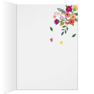 Cartão Flores românticas