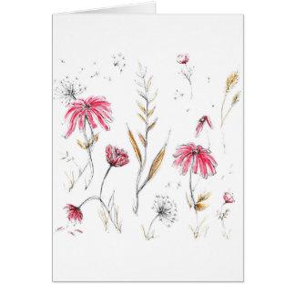 Cartão Flores selvagens