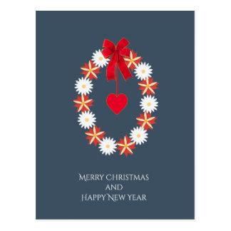 Cartão florescido do Feliz Natal Cartão Postal