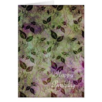 Cartão Flourish romântico
