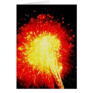 Cartão Fogo-de-artifício!