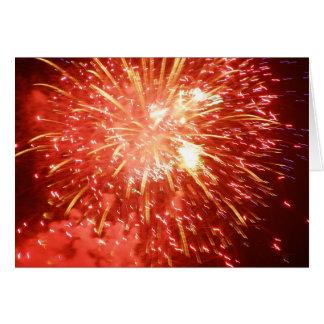 Cartão Fogo-de-artifício