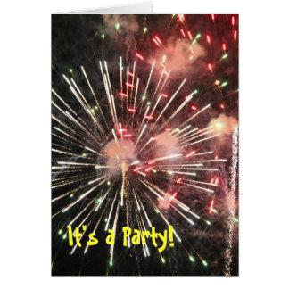 Cartão Fogos-de-artifício