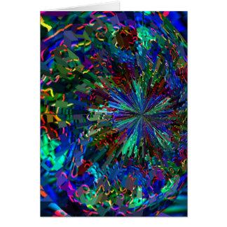 Cartão Fogos-de-artifício AZUIS da faísca de Zinzelle