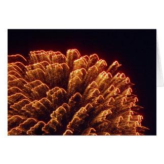 Cartão fogos-de-artifício bonitos