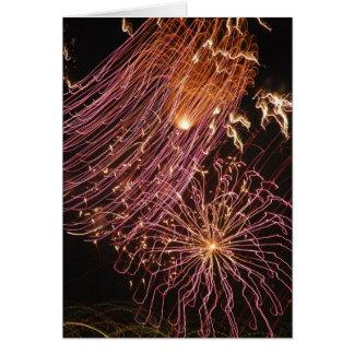Cartão Fogos-de-artifício de Dominica III