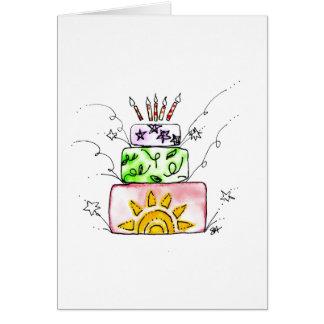 Cartão Fogos-de-artifício do feliz aniversario