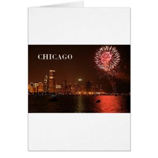 Cartão Fogos-de-artifício dos EUA Chicago (novos) (St.K)