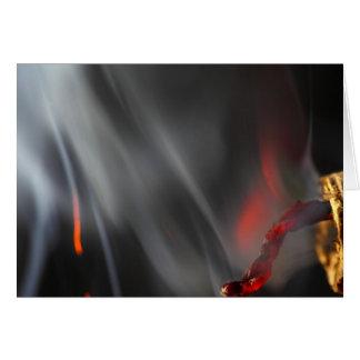 Cartão Foguete ardente