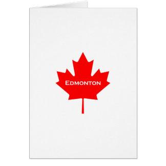 Cartão Folha de bordo do vermelho de Edmonton