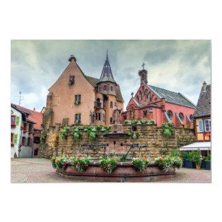 Cartão Fonte de Santo-Leon em Eguisheim, Alsácia, France
