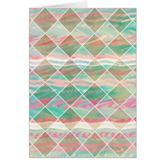Cartão Formas geométricas Pastel modernas femininos do