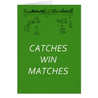 Cartão Fósforos da vitória das capturas