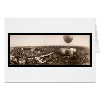 Cartão Foto 1908 de Chicago Ballooning, IL