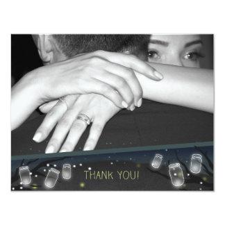 Cartão Foto obrigado dos Nightlights (casamento do