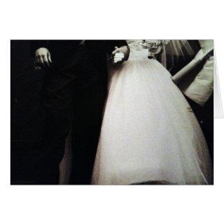 CARTÃO FOTO PRETO E BRANCO DE BRIDE/GROOM PARA WEDDING