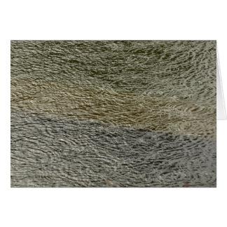 Cartão Fotografia abstrata da água da natureza das
